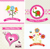 Template greeting card, mother day, vector Stock Photo