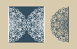 Template greeting card with openwork pattern Royalty Free Stock Photos