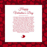 Template greeting card on red background with Stock Photos