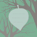 Template for greeting card. Spring leaf Royalty Free Stock Photography