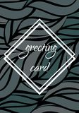 Template greeting card Stock Photo