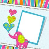 Template greeting card, vector Royalty Free Stock Image