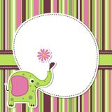 Template greeting card, vector stock illustration
