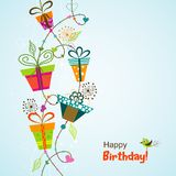 Template greeting card, vector Stock Image
