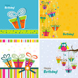 Template greeting card, vector Royalty Free Stock Images