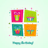 Template greeting card, vector Stock Images