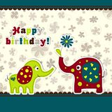 Template greeting card, vector Stock Photography