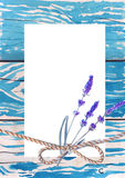 Template greeting cards. Background old plank of wood. Watercolor sketch. Template greeting cards. Background old plank of wood. Blue paint. Watercolor sketch Stock Photography