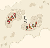 Template for greeting cards or flyers. Stock Images
