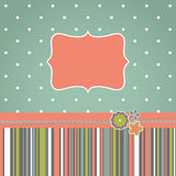Template greeting retro design card Royalty Free Stock Photos