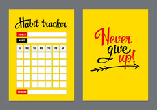 Template habits tracker for a month. vector illustration