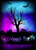 Template for Halloweeen poster party Royalty Free Stock Photo