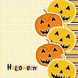 Template Halloween greeting card, vector Royalty Free Stock Photos