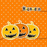 Template Halloween greeting card, vector Royalty Free Stock Photo