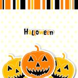 Template Halloween greeting card, vector Stock Photo
