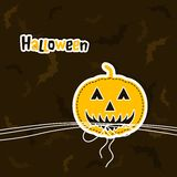 Template Halloween greeting card, vector Stock Images