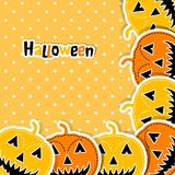 Template Halloween greeting card, vector Royalty Free Stock Photography