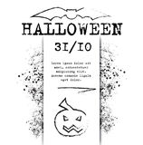 Template Halloween invitation for print or website Stock Images