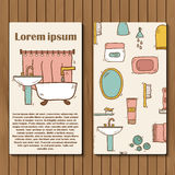 Template for hand drawn bathroom booklet or card Royalty Free Stock Photography