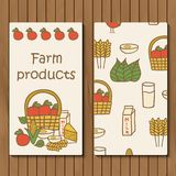 Template for hand drawn booklets on farm products Royalty Free Stock Photography