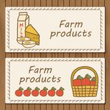 Template for hand drawn booklets on farm products Royalty Free Stock Photos