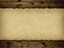 Template - handmade paper and planks Stock Photo
