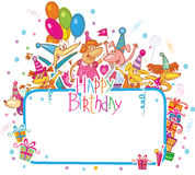 Template for Happy birthday card royalty free illustration