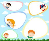 A Template with Happy Kids. Illustration royalty free illustration