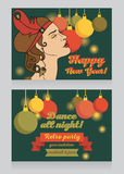 Template for happy new year party invitation Stock Images