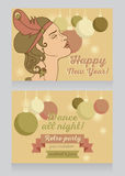 Template for happy new year party invitation Stock Photos