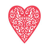 Template heart with flowers for laser cutting, chipboard scrapbooking. Royalty Free Stock Photography