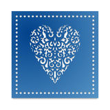 Template heart with flowers for laser cutting, chipboard scrapbooking. Template card heart with flowers for laser cutting, scrapbooking. Roses and wedding stock illustration