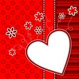 Template heart greeting card Stock Images