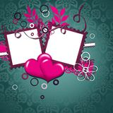 Template heart greeting card Stock Image