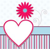 Template heart greeting card Stock Photography