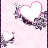 Template heart greeting card Stock Photo