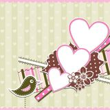 Template heart greeting card Royalty Free Stock Photography
