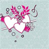Template heart greeting card, vector Royalty Free Stock Photos