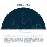 Template for hookah cafe, bar, restaurant. Royalty Free Stock Image