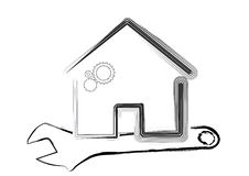 Template of house under maintenance  concept Stock Images