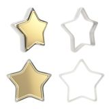 Template icon emblems for star rate voting rating Stock Photography