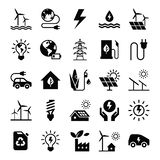 Green energy icon set  vector illustration