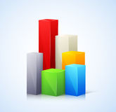 Template for infographic with 3d bar. This is file of EPS10 format Stock Photography
