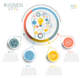 Template Infographic with 3D circles paper label. Stock Image