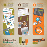 Template for infographic with graphics of the business process i Royalty Free Stock Image