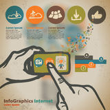 Template for infographic with photos and videos Royalty Free Stock Photo