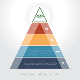 Template Infographic pyramid for four text area Royalty Free Stock Photography