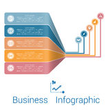 Template Infographic Strips Perspective five position. Royalty Free Stock Photography
