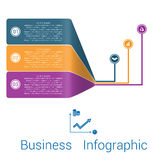 Template Infographic Strips Perspective three position. Royalty Free Stock Photos