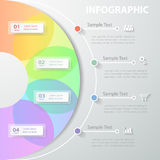 Template Infographic. Vector illustration can be used for workflow, layout, diagram Royalty Free Stock Photography